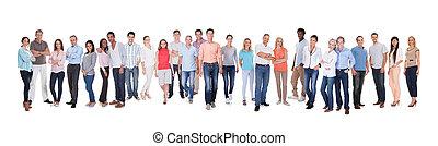 diverso, grupo pessoas