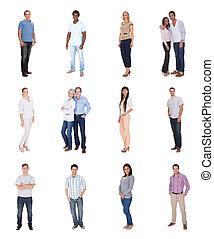 diverso, grupo, pessoas