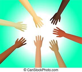 diverso, mãos