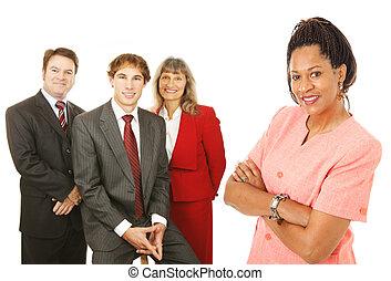 diverso, pessoas negócio
