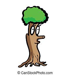 divertente, albero