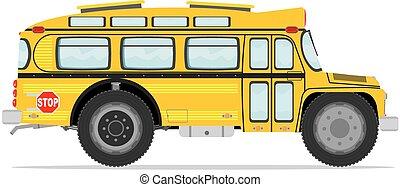 divertente, bus scuola