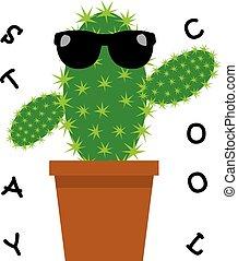 divertente, cactus, fresco