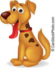 divertente, cane, cartone animato