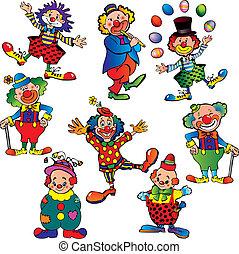 divertente, clowns.