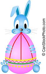 divertente, coniglio pasqua