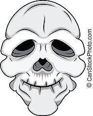 divertente, cranio, maschera, vettore