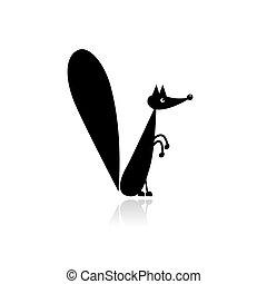 divertente, disegno, scoiattolo, tuo