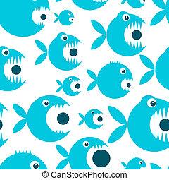 divertente, fish, disegno, tuo, cartone animato