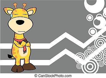 Divertente giraffa cartone animato divertente giraffa - Cartone animato giraffe immagini ...