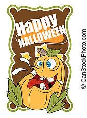 divertente, halloween, zucca