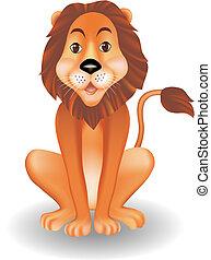 divertente, leone