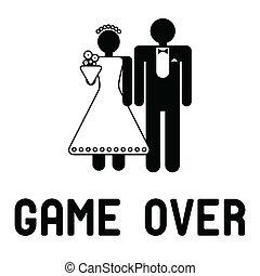 divertente, matrimonio, simbolo
