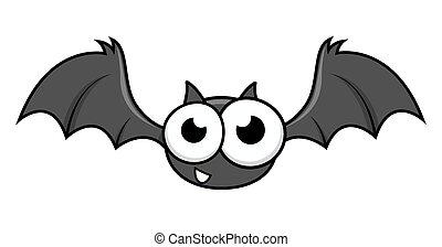 divertente, pipistrello halloween, carattere