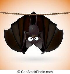 divertente, pipistrello, -, halloween