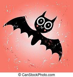 divertente, pipistrello