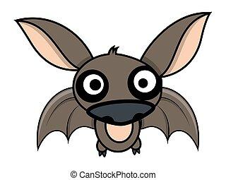 divertente, pipistrello, vettore, halloween, carino
