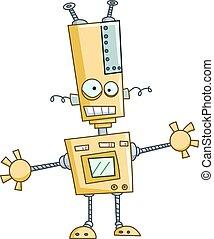 divertente, robot