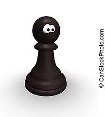 divertente, scacchi, pegno