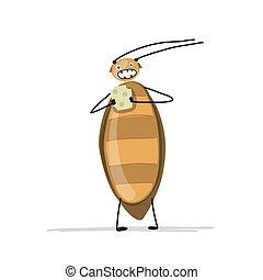 divertente, scarafaggio, per, tuo, disegno