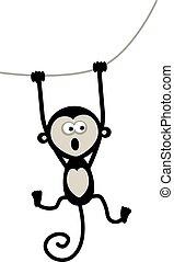 divertente, scimmia, per, tuo, disegno