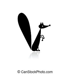 divertente, scoiattolo, per, tuo, disegno