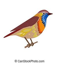 divertente, seduta, tuo, disegno, ramo, uccello
