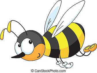 divertido, abeja