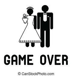 divertido, boda, símbolo