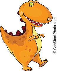 divertido, dinosaurio