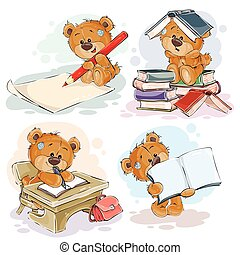 divertido, escuela, childrens, universidad, saludo, topic,...
