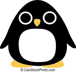 divertido, extraño, pingüino