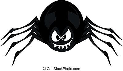 divertido, freaky, araña