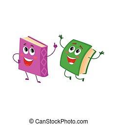 divertido, marcador, carácter, visible, corriente, libro, cinta