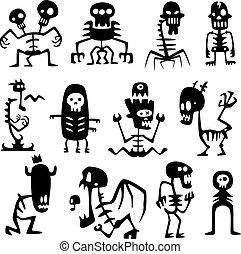 divertido, monstruos