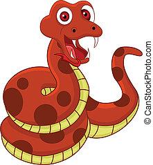 divertido, serpiente