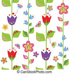 divertido, tulipán, envoltura, bluebell