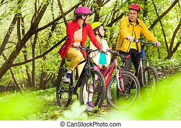 divertimento, bosque, tendo, família, esportes