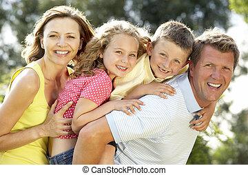 divertimento, campagna, detenere, famiglia