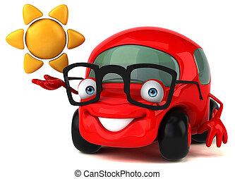 divertimento, car, -, ilustração, 3d