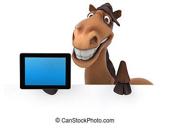 divertimento, cavalo