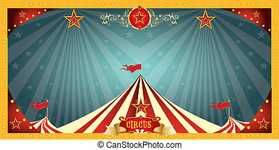 divertimento, circo, bandiera