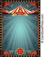 divertimento, circo, nero