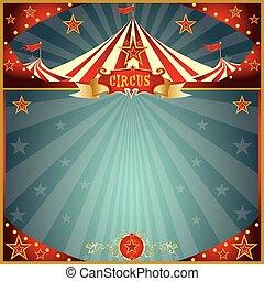 divertimento, circo, quadrato, notte
