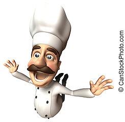 divertimento, cozinheiro