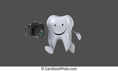 divertimento, dente, -, animazione al computer