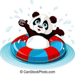 divertimento, estate, panda