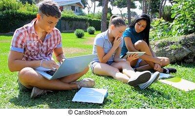divertimento, estudar, tecnologia