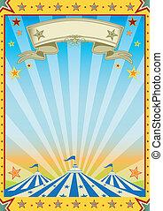 divertimento, giallo, colore circo, sole, festa