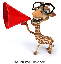 divertimento, girafa